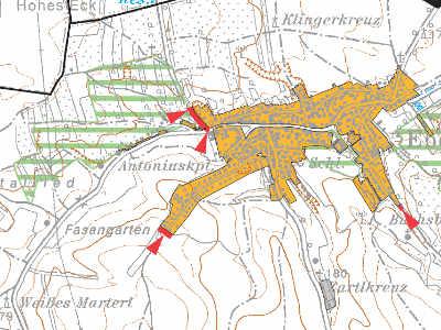 Ausschnitt aus dem regionalen Raumordnungsprogramm Wiener Umland Nordost