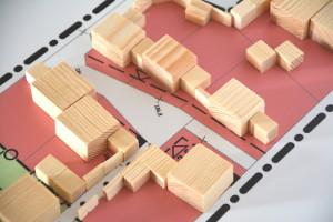 Bebauungsplan mit bespielhaften Baukörpern
